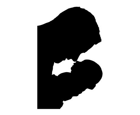 silhouette father son family people child boy vector