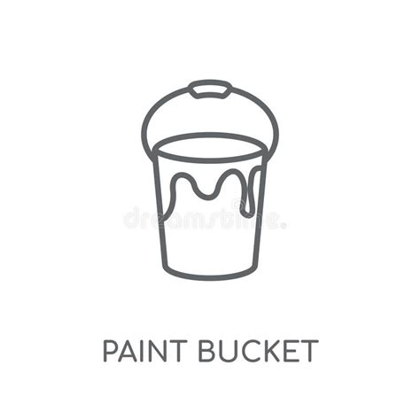 White matte plastic bucket for food products, paint, household stuff. Buckets of color stock illustration. Illustration of ...