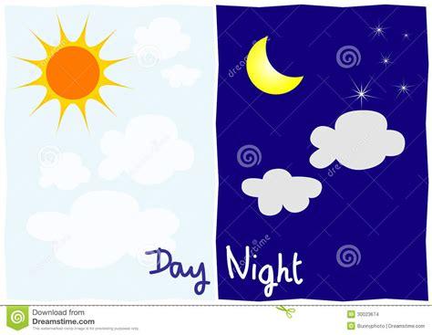dibujos dia y la noche d 237 a y noche imagenes de archivo imagen 30023674