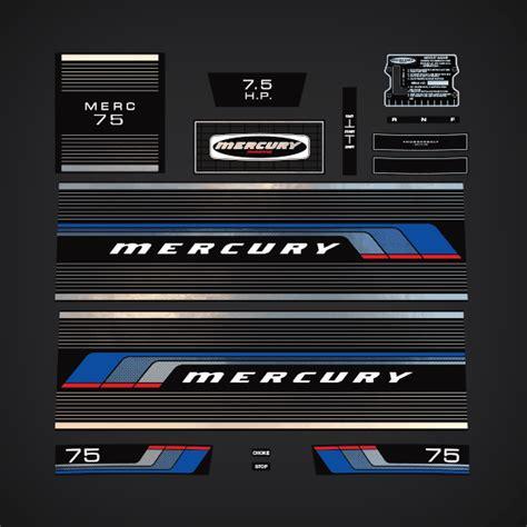 mercury  hp decal set