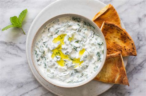 morocan cuisine swiss chard tzatziki yogurt dip recipe simplyrecipes com