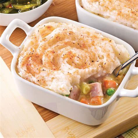 p 226 t 233 au jambon et mac 233 doine de l 233 gumes en sauce recettes cuisine et nutrition pratico pratique