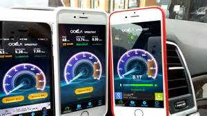 iphone speed test iphone 6 speed test at t sprint t mobile verizon
