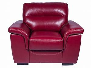 Canapé Cuir Fauteuil : fauteuil en cuir giovanni coloris rouge vente de tous ~ Premium-room.com Idées de Décoration