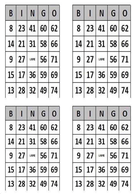 cartones de bingo en pdf para imprimir bs 200 00 en mercado libre