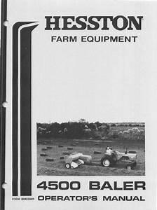 Hesston 4500 Baler Manual