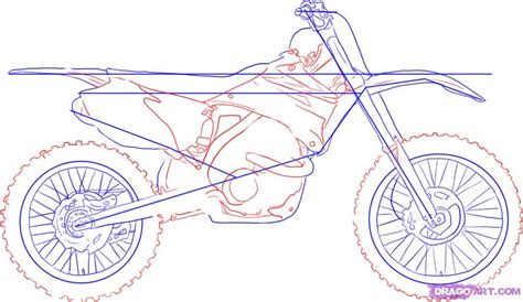 how to draw a motocross bike how to draw a dirt bike step by step motorcycles
