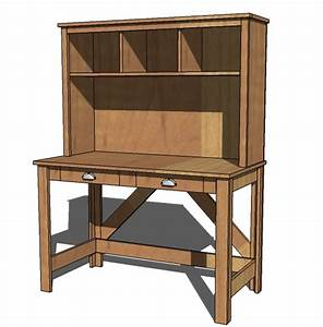 hollands: Simple wood desk plans free