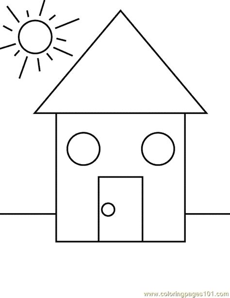 Coloring Shapes by Shape Coloring Page 17 Coloring Page Free Shapes