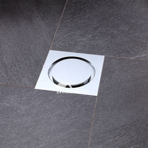 modern polished chrome deodorant square shower drain