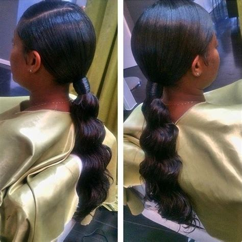 easy black ponytail hairstyles