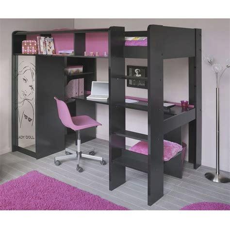 lit mezzanine et canapé ladolly lit mezzanine 90 x 200 cm bureau étagères