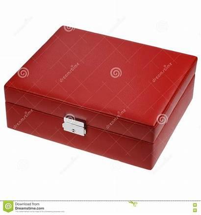 Box Leather Isolated Trinkets Jewelery