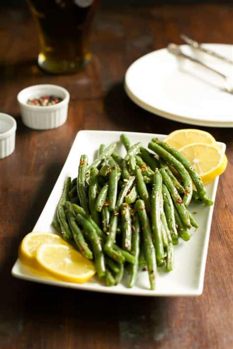 roasted green beans     crispy primavera