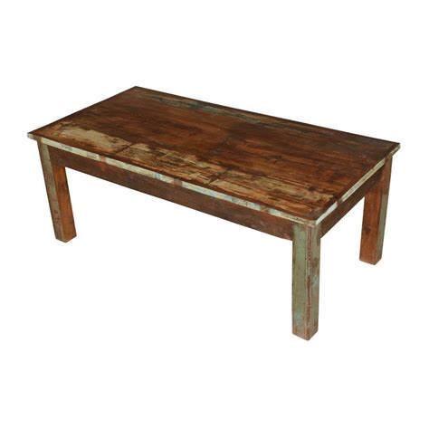 Square, round, and rectangle are all here. Farmhouse Distressed Reclaimed Wood Rustic Coffee Table