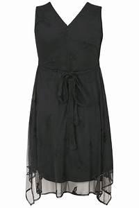 Bon Price Mode : robe noire fleurs brod es grande taille 44 60 ~ Eleganceandgraceweddings.com Haus und Dekorationen