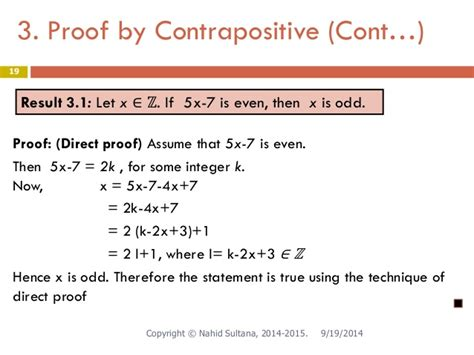 Contrapositive Examples