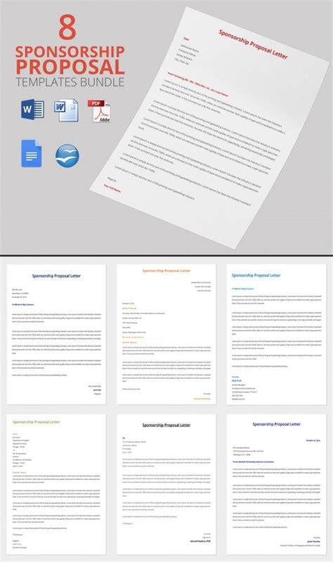 sponsorship proposal letter bundle template donation