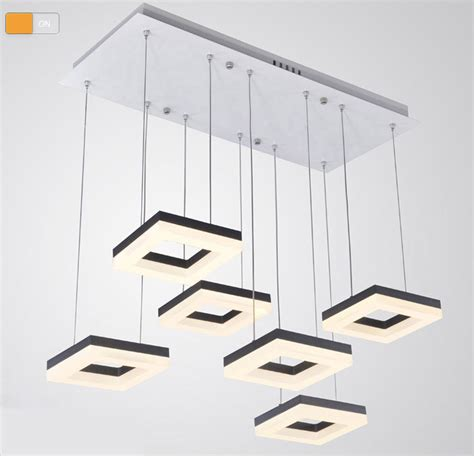 aliexpress buy 54w dining room square pendant light italian design led pendant lights