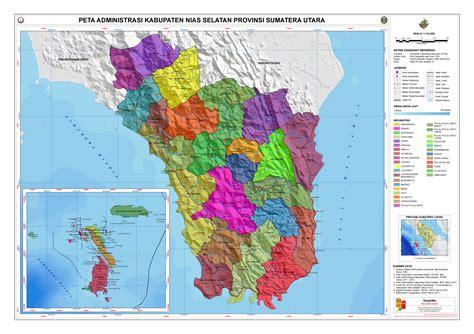 administrasi kabupaten nias selatan peta tematik indonesia