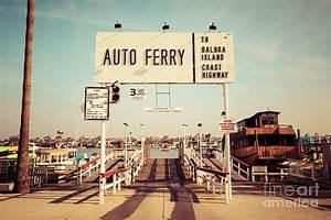 Balboa Island Ferry Newport Beach Vintage Picture