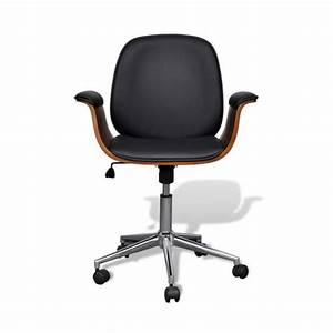 Superbe chaise pivotante avec accoudoir en cuir artificiel for Meuble salle À manger avec chaise pivotante salle a manger