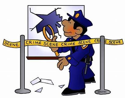 Crime Clipart Scene Clip Police Scenes Safety