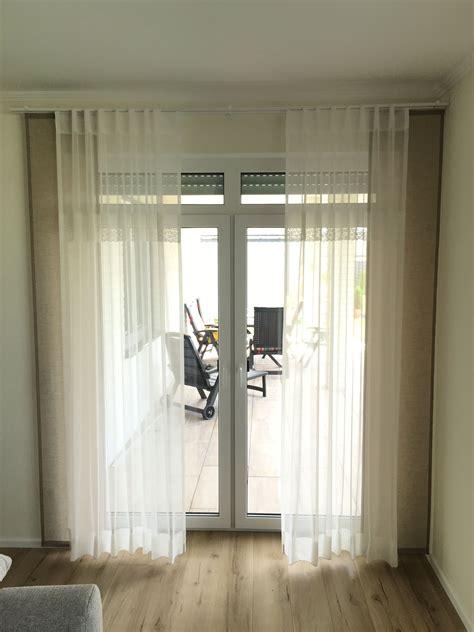deko ideen für schlafzimmer fenster gardinen store taupe spitze wei 223 schal f 252 r gro 223 e