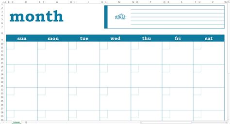 month template blank monthly calendar excel template savvy spreadsheets