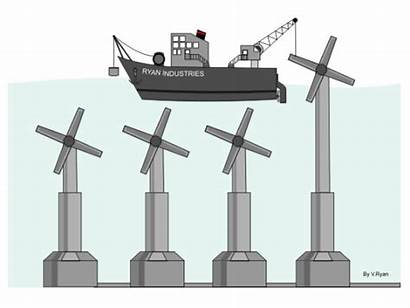 Tidal Animated Turbine Turbines Shore Giphy Tide