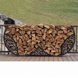 Shelterit, Shelterit, 8, Ft, Firewood, Log, Rack, With, Kindling, Wood, Holder, -, Double, Round-23418