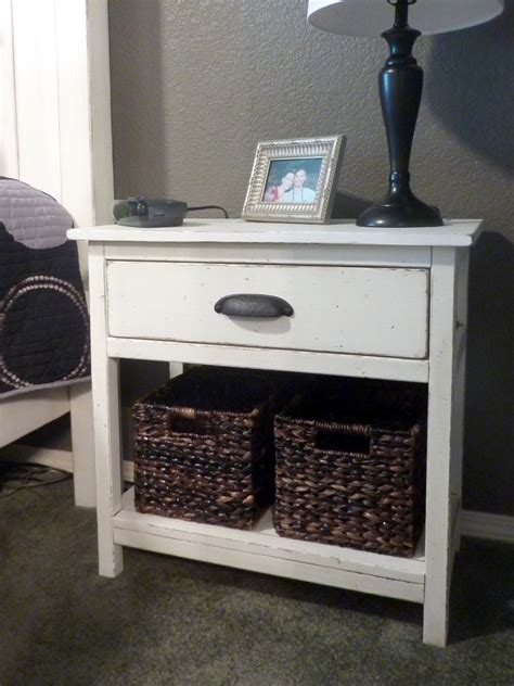 Farmhouse Nightstand white farmhouse bedside table diy projects