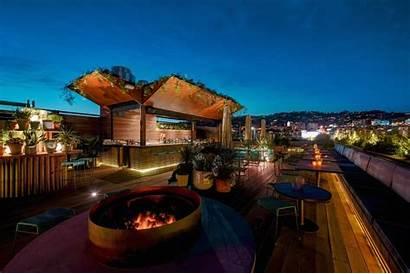 Rooftop Angeles Bars Bar Above Smog