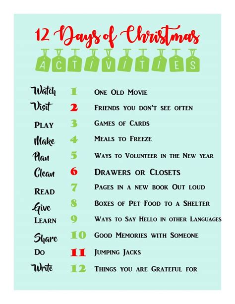 Keeping The 12 Days Of Christmas