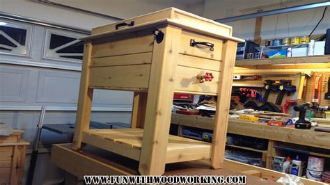 project     rustic cedar ice chest cooler box youtube