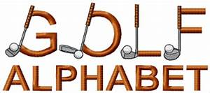 golf embroidery designs free clipart best With golf alphabet letters