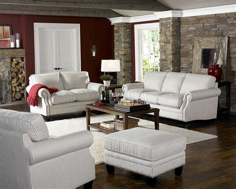 The Loveseat by White Blue Striped Fabric Cottage Style Sofa Loveseat Set