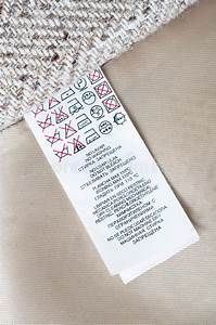Clothing Label Instructions Stock Image