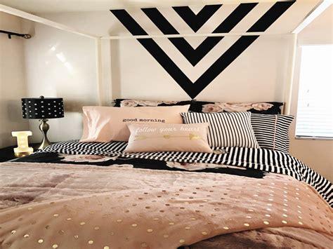 bedroom rose gold decor unique girls room black  navy