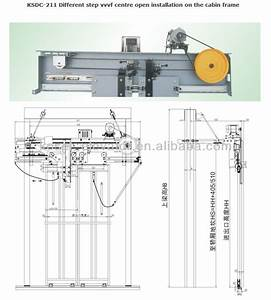 Mitsubishi Type Different Step Vvvf Center Opening