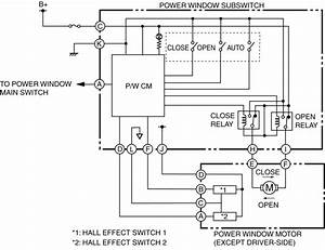 Power Window System Wiring Diagram  Power Window Systems