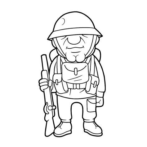 Kleurplaat Soldaten Met Geweer by Leuk Voor Soldaat Uit De Eerste Wereldoorlog