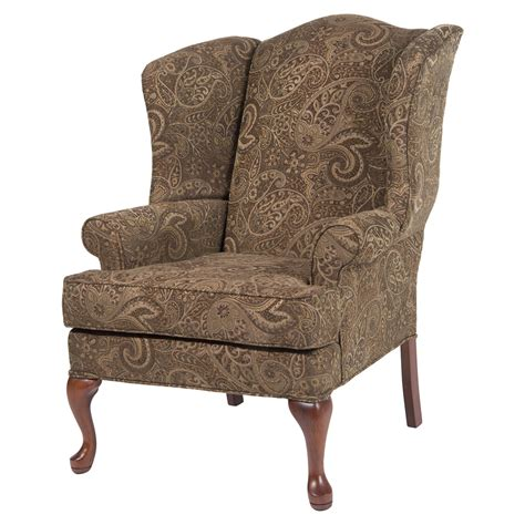 paisley wingback chair coco cherry dcg stores