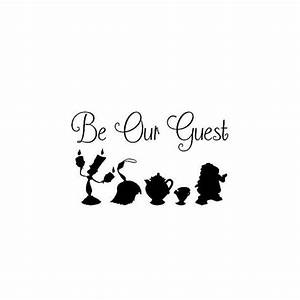Beauty And The Beast Be Our Guest Decal Sticker