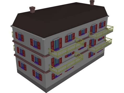 apartment building  model  cad browser