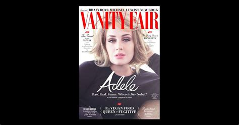 Adele En Couverture De Vanity Fair Usa, édition De