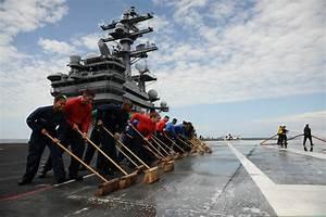 FileUS Sailors Wash The Flight Deck Of The Aircraft