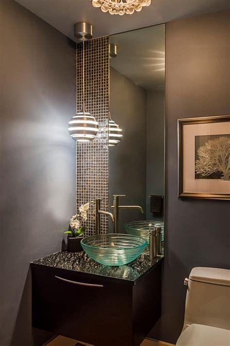 modern gray powder room hgtv