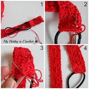 Crossed Stitch Headband With Flower Applique