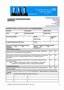 Employment Questionnaire Sample Free 6 Assessment Form For Employment In Pdf